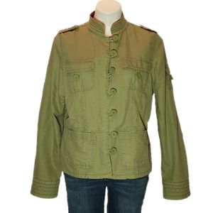 Old Navy jacket button front green